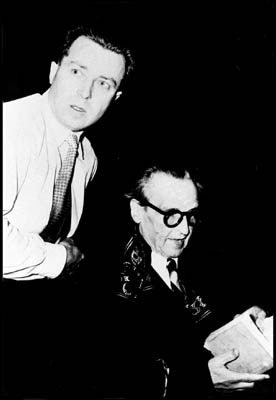 Claude Prior et Arthur Honegger en 1953